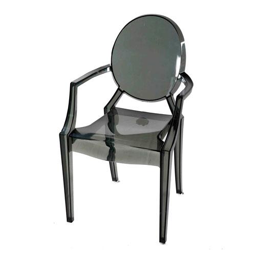 Transpa Moon-Back (Arm) Chair – Trans Gray