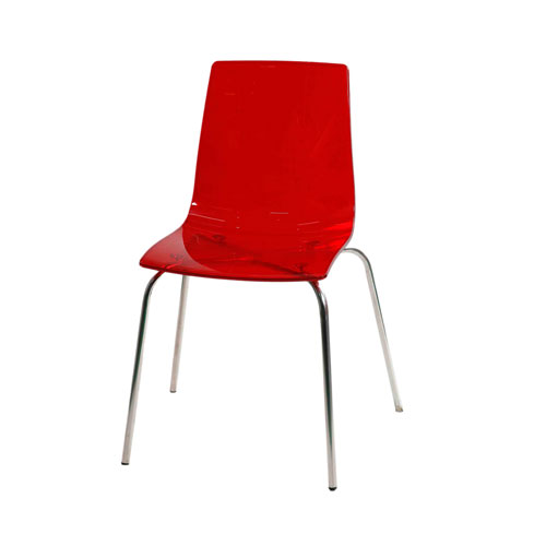 Transpa Deluxe Chair – Trans Red