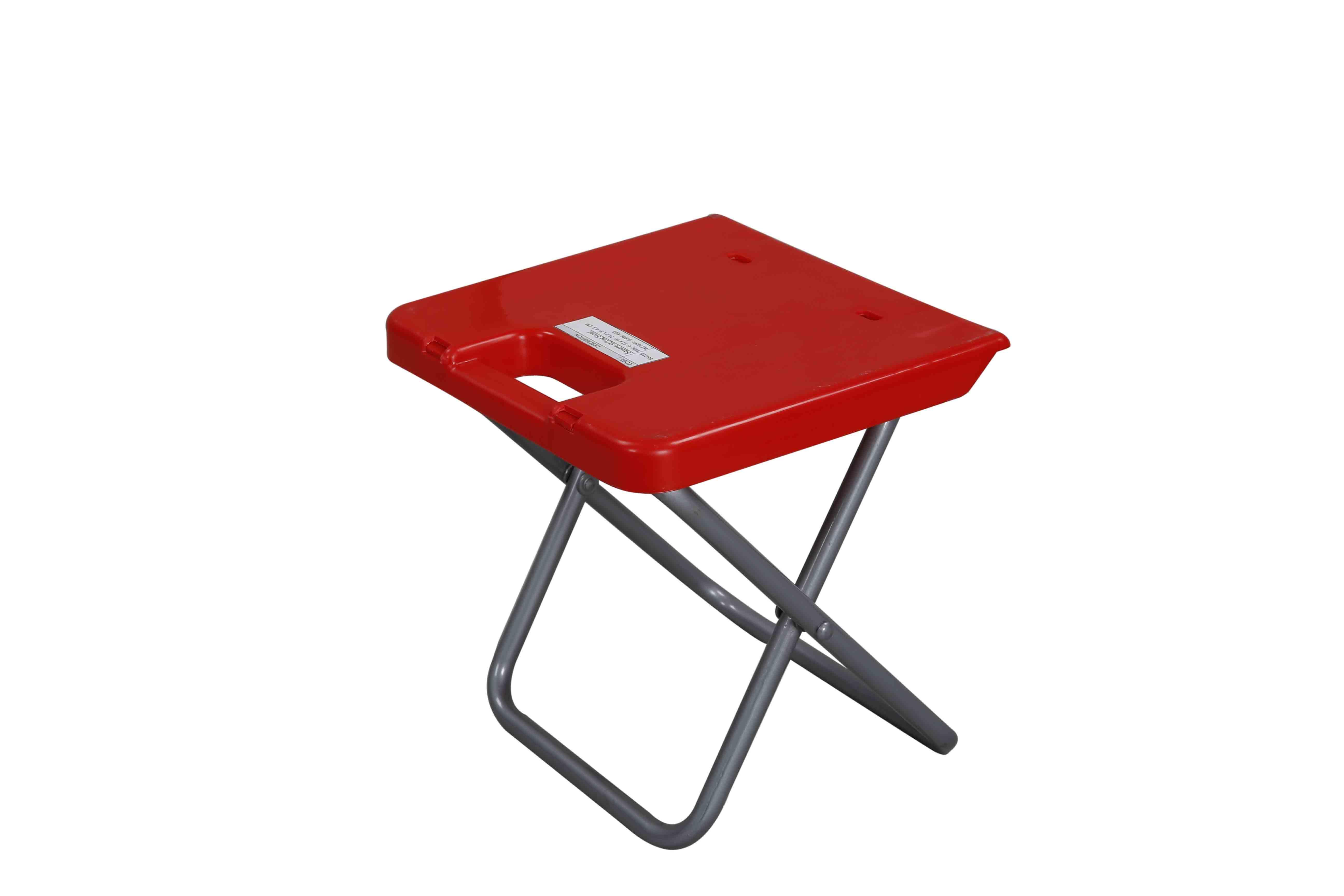 Stool Square StLeg -Red