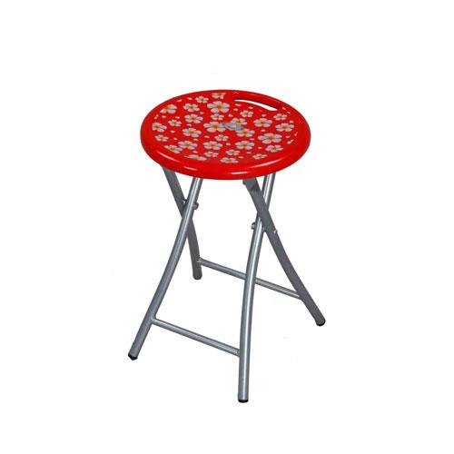 Stool Round StLeg -Red