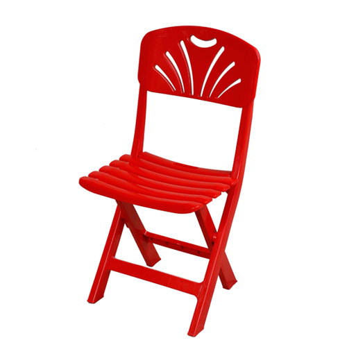 Folding Casual Chair (Tulip-Bar-Red)