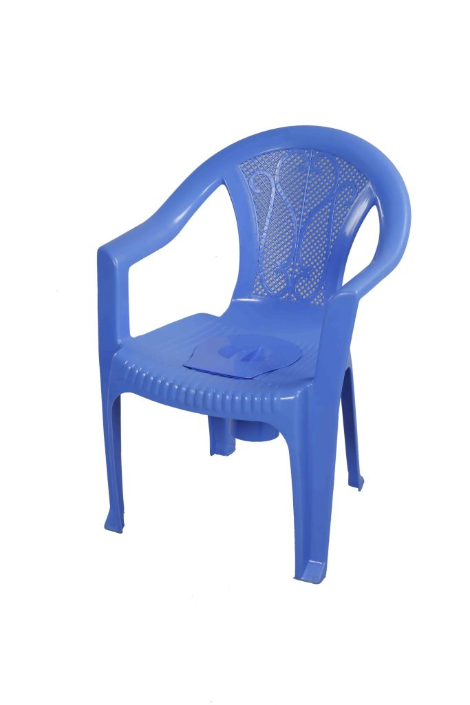 Chair Commode With Arm Sm Blue Rfl