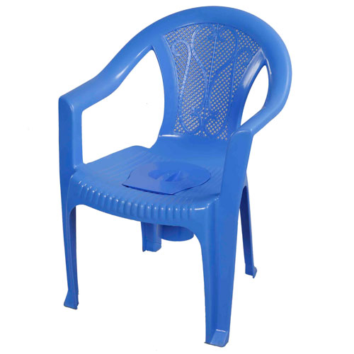 Chair Commode with Arm -SM Blue