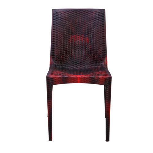 Caino Armless Chair-Rose Wood