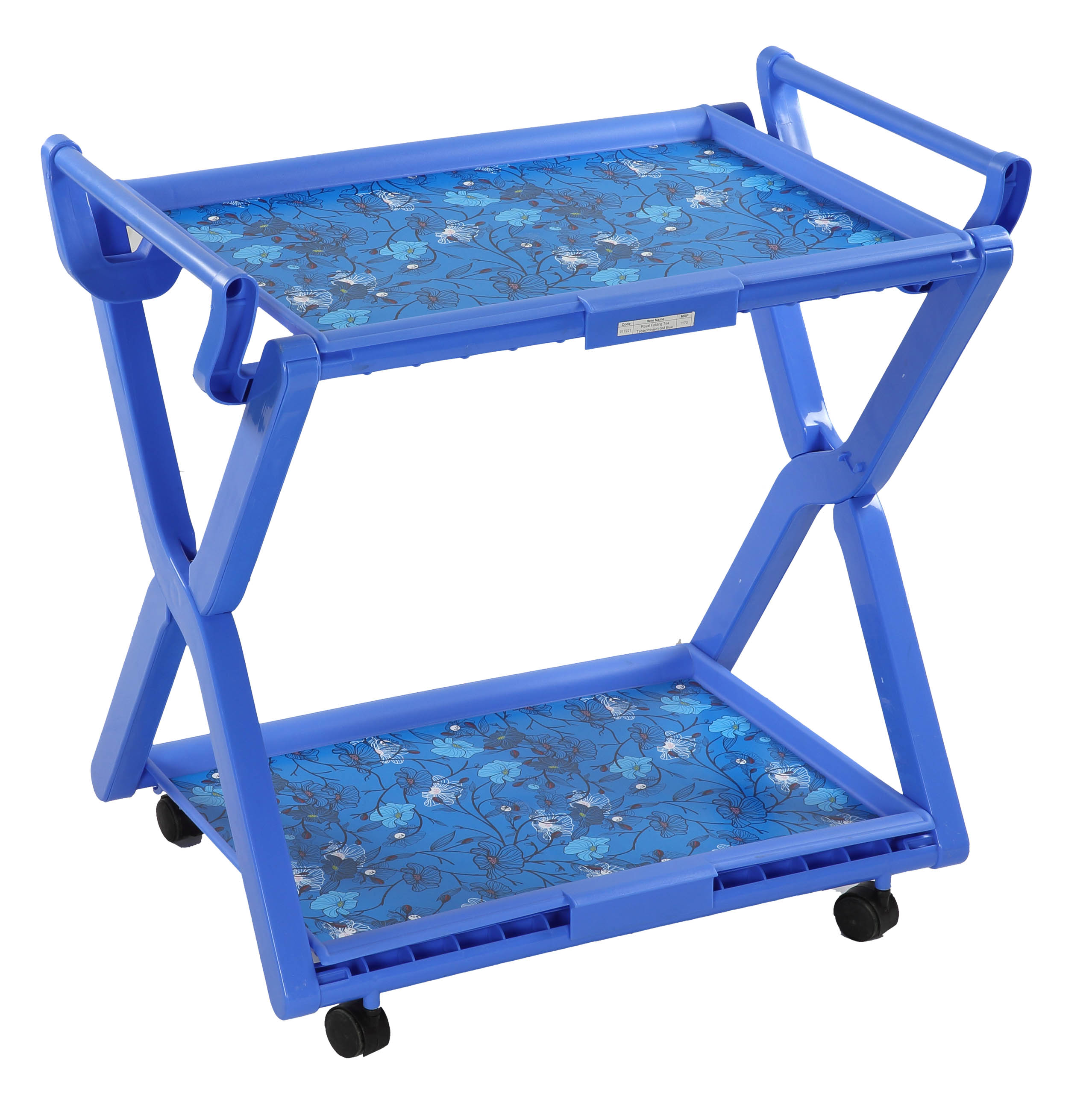 Royal Folding Tea Table(Printed)SM Blue