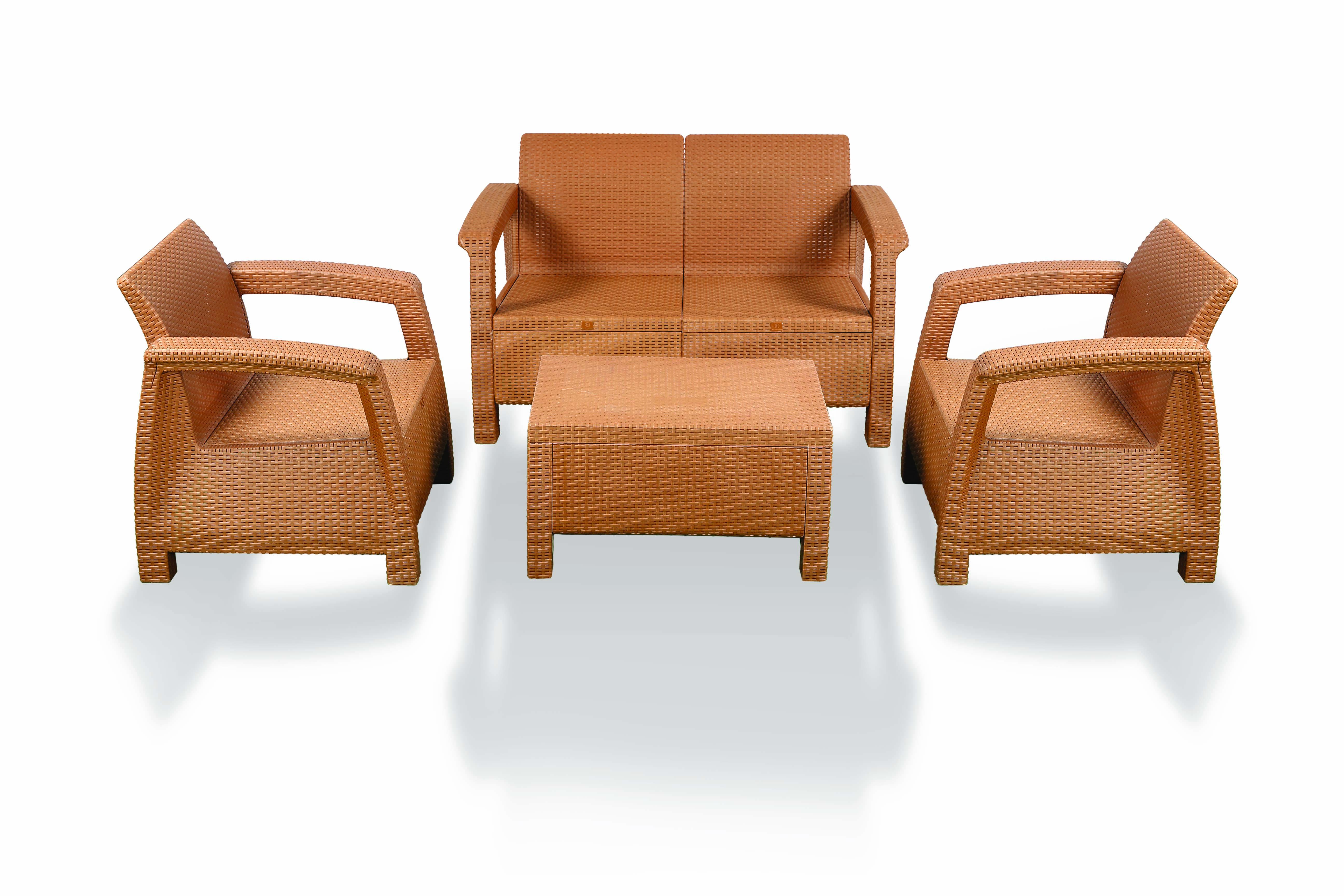 Caino Sofa 4 Pcs Set WO Foam – Eagle Brown