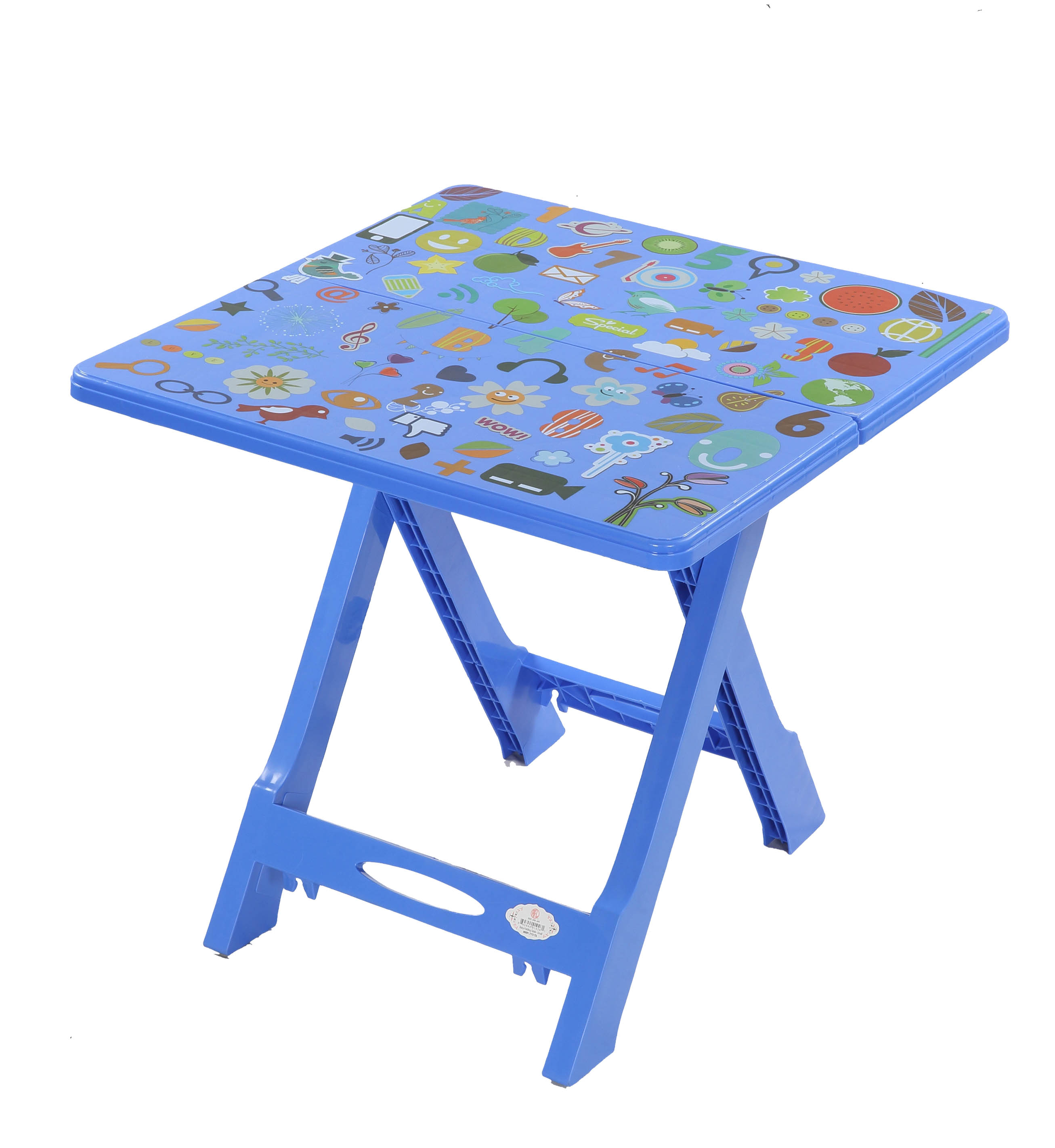 Baby Folding Table Printed Music-SM Blue