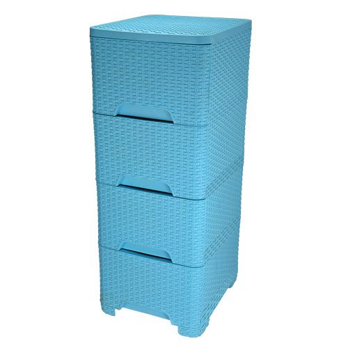 Cane Closet 4 Drawer Blue