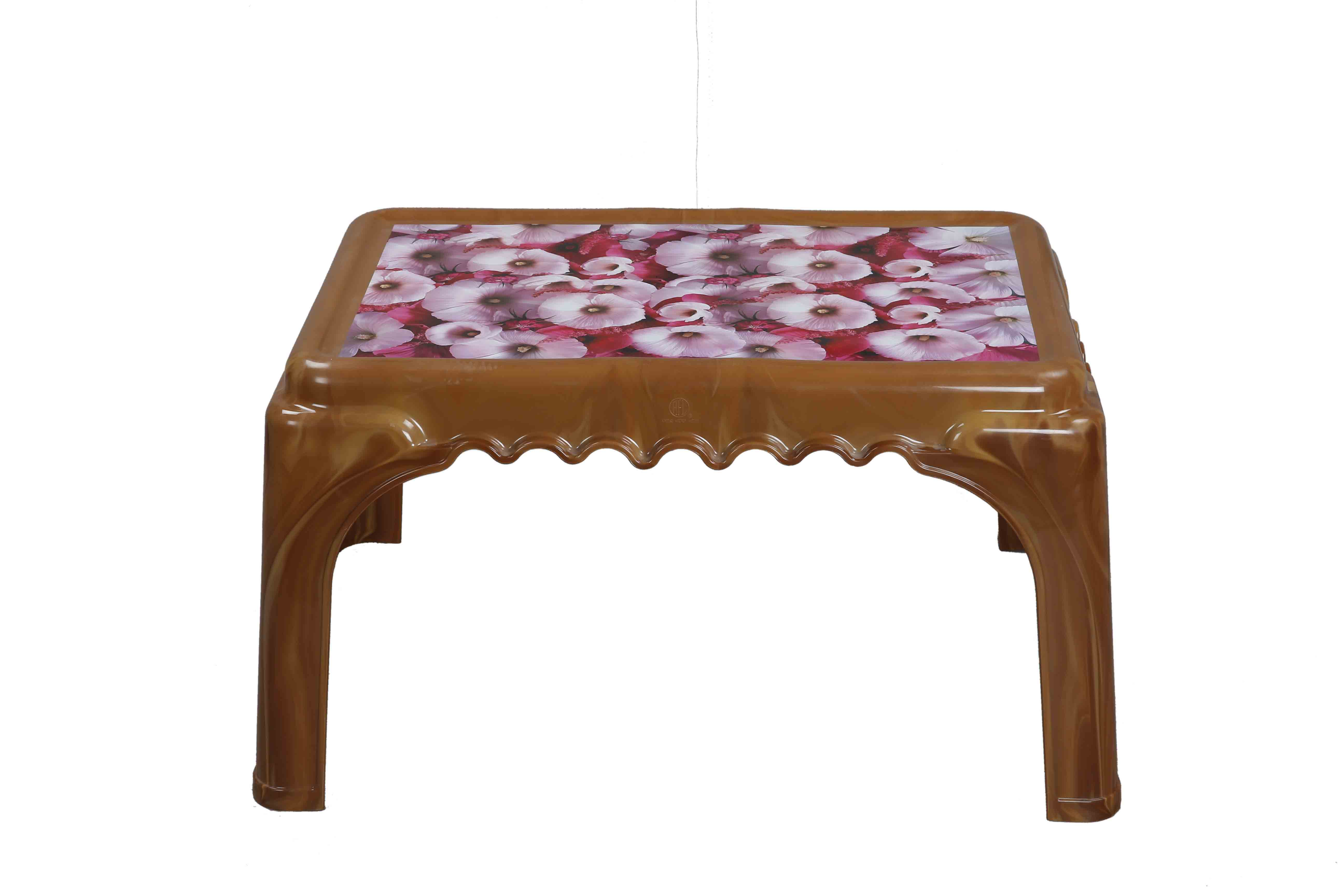 Classic Center Table Printed Rosa-S.Wood