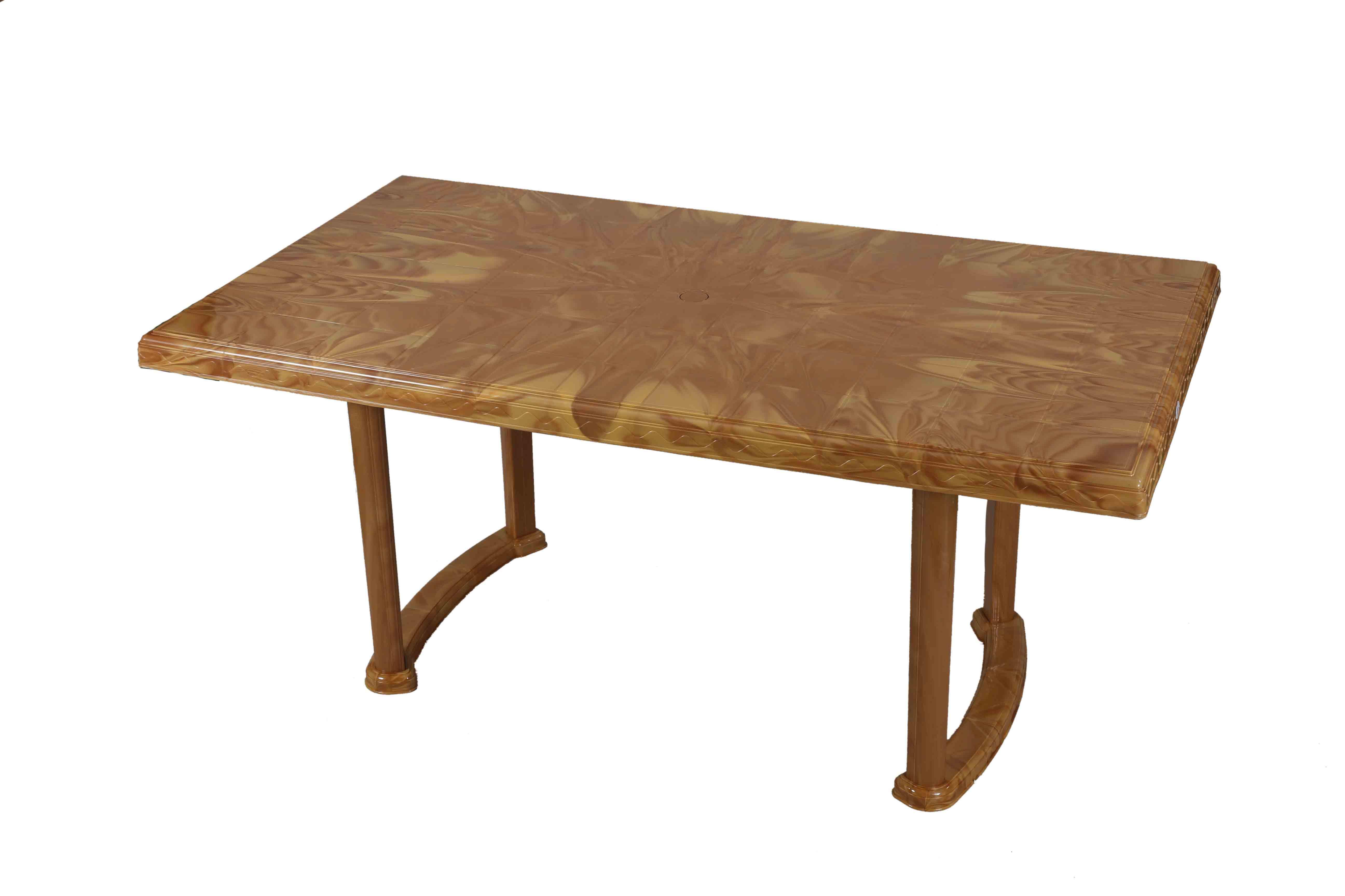 Decorate Table 6 Seated Plas/Leg – Sandal Wood