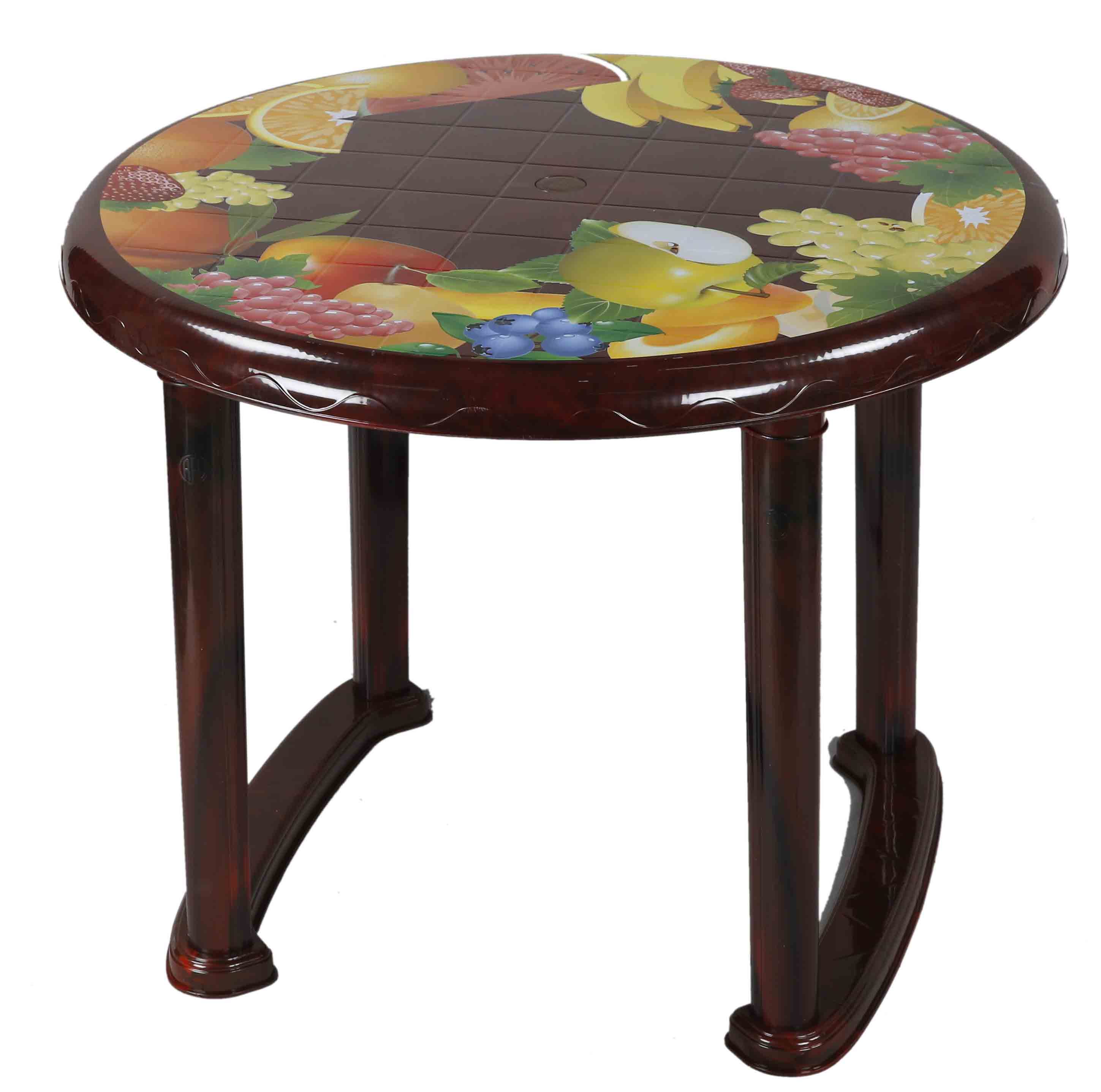 Dining Table 4 Seat Ro P/L Print Mixed Fruit-RW