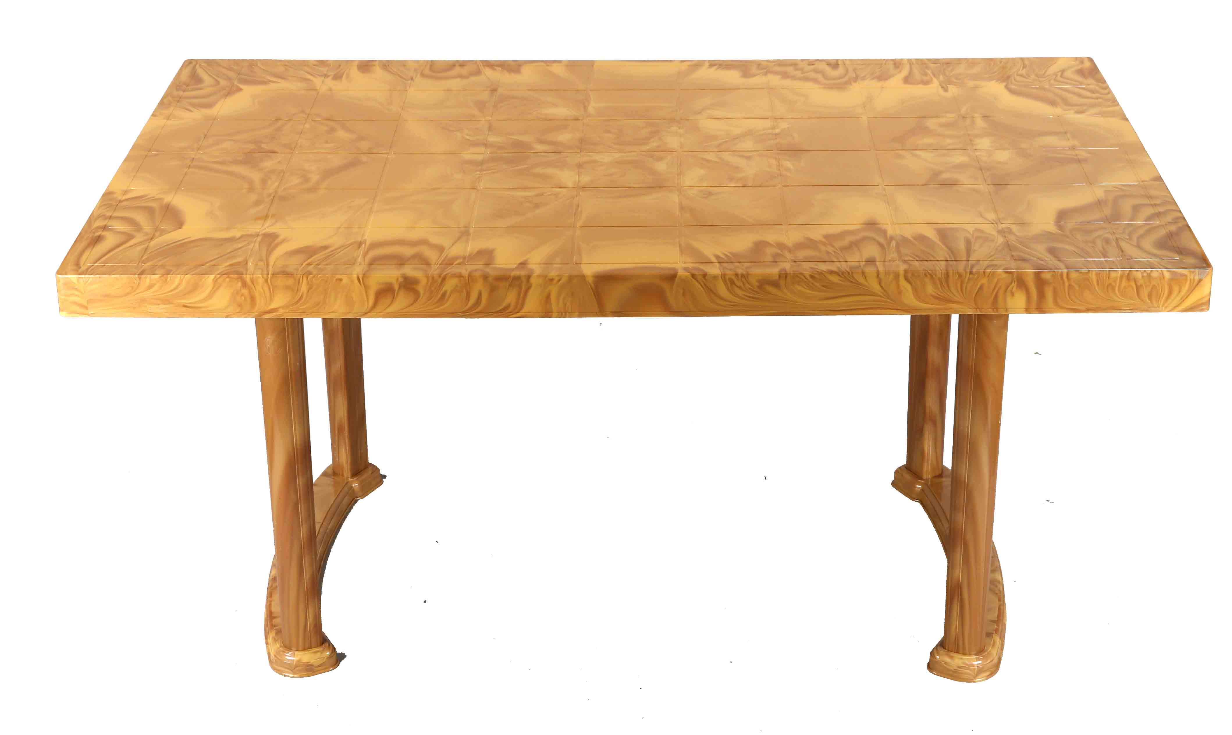 Dining Table 4 Seat Rtg Plas/Leg – Sandal Wood
