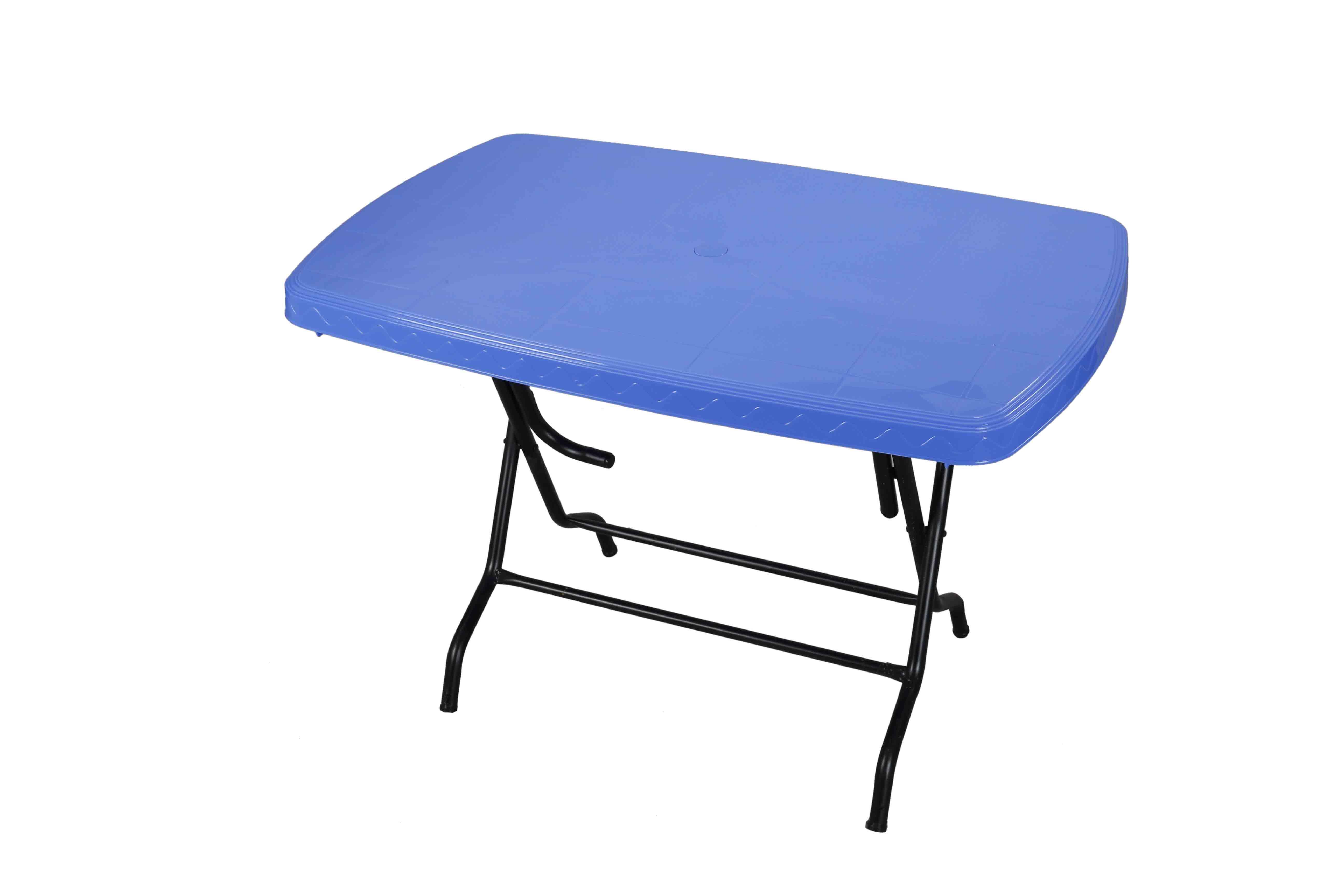 Dining Table 4 Seat Rtg St/Leg – SM Blue