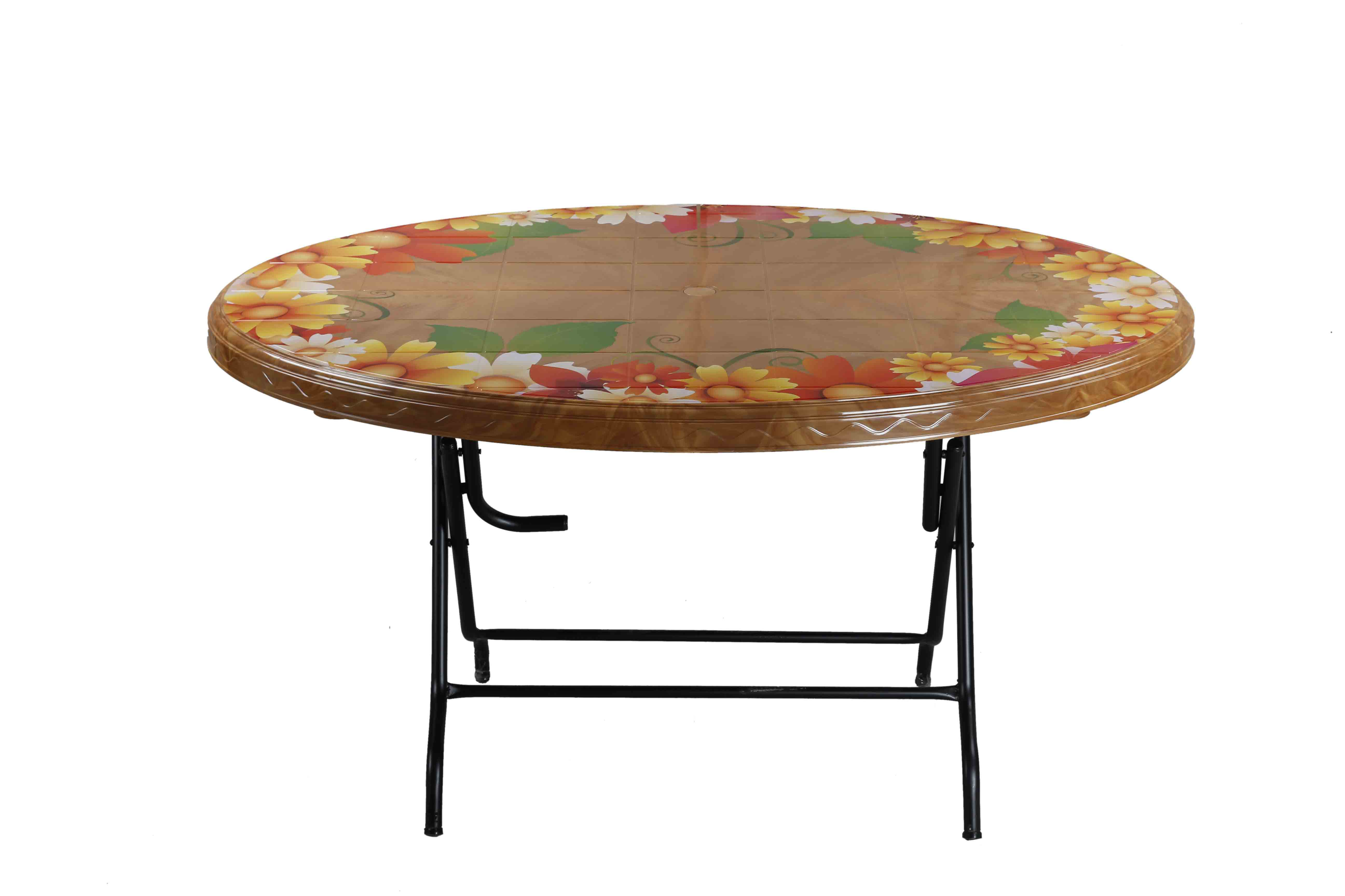 Dining Table 6 Seat Oval  S/L Printed Sunflower-SW