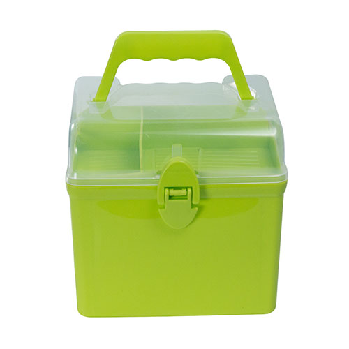 Medicine Storage Box Square Lime Green