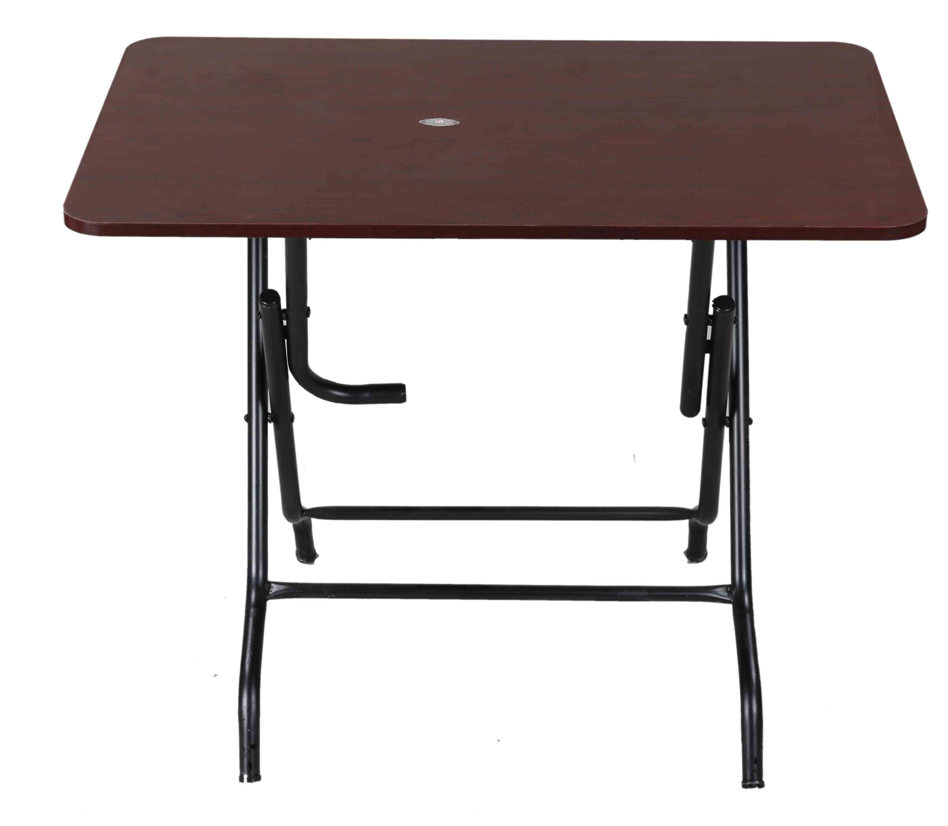 Melamine Table 4 Seated Sq  St/Leg-R.Wood