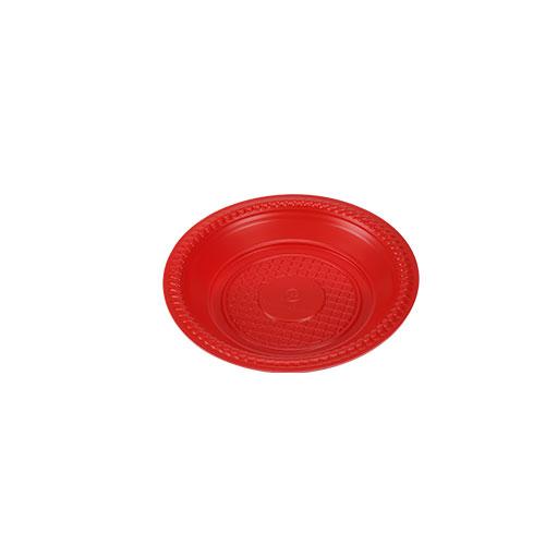 Plate 16 CM Red & White color 50 PCs set