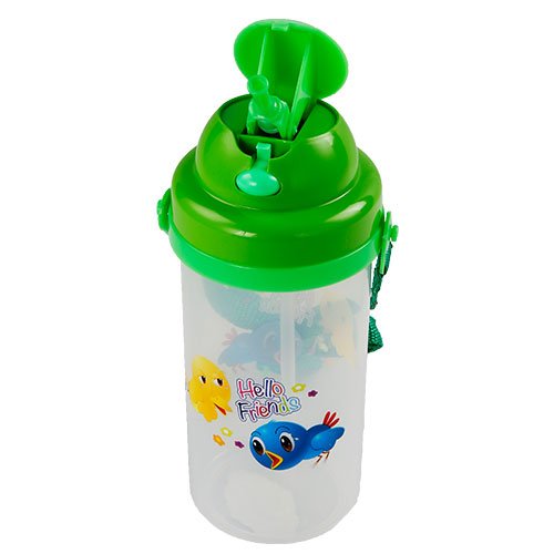 School Push Bottle with Belt Trans
