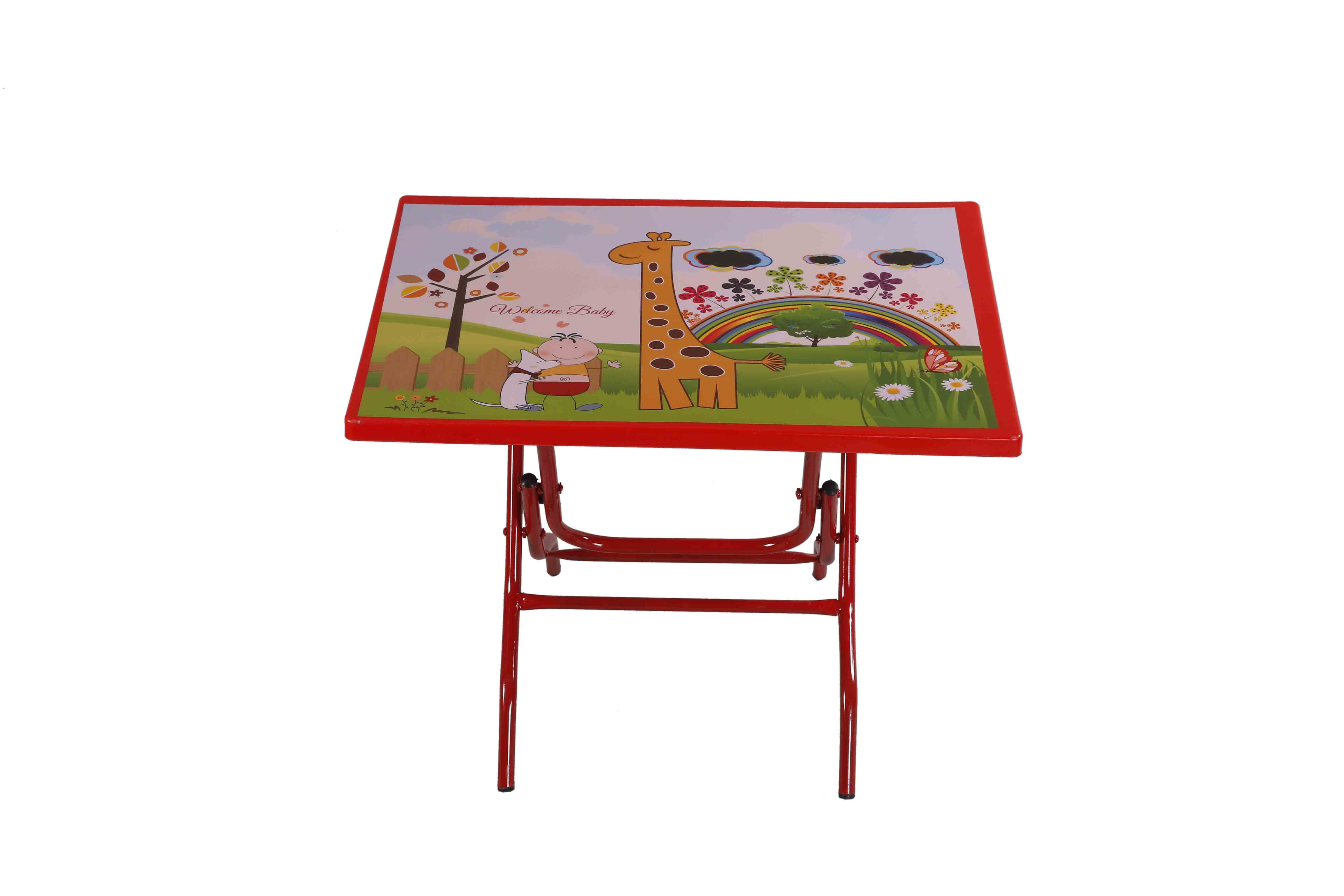 Smart Baby Reading Table StLeg (Welcome Baby)-Red