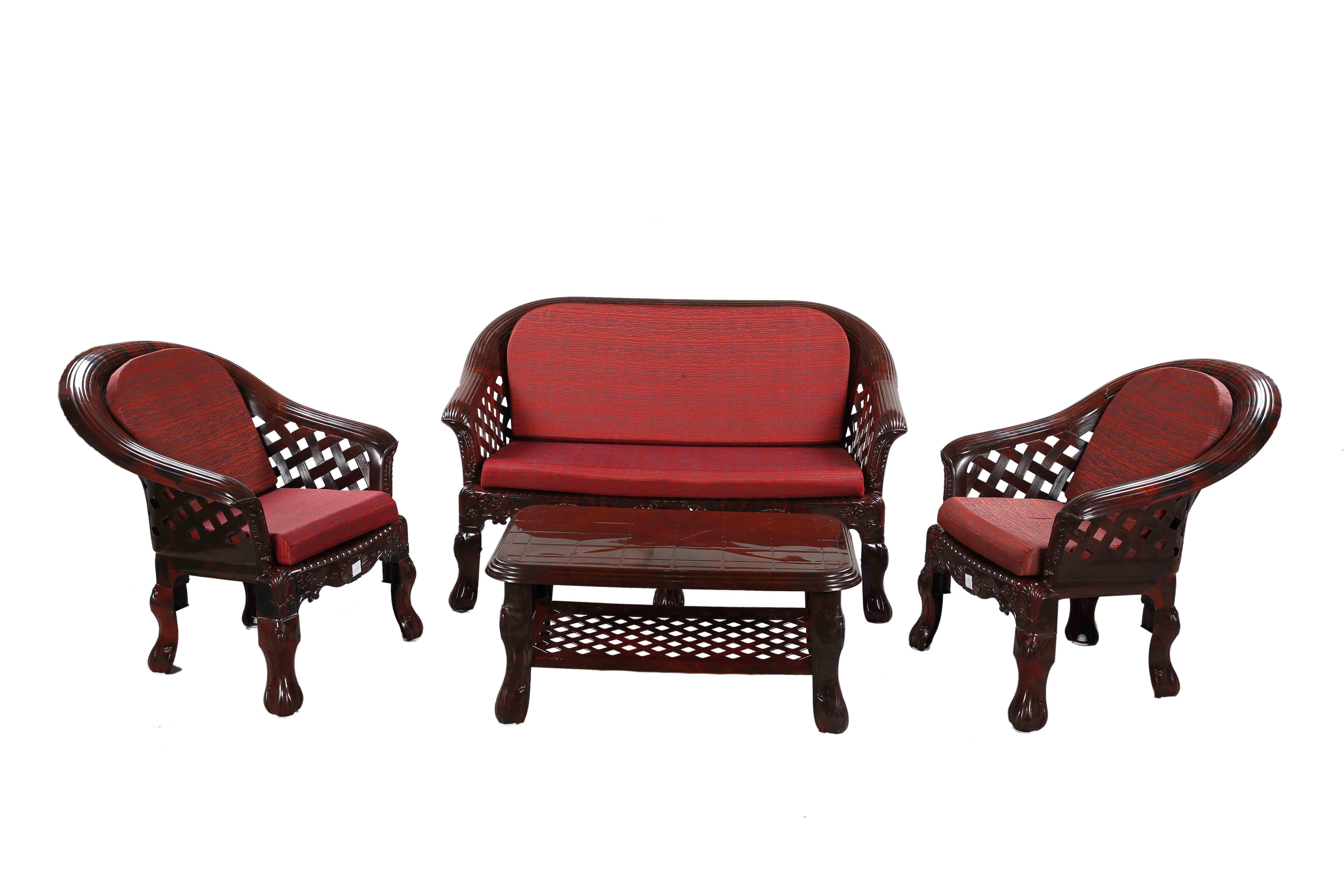 Sofa (4pcs) set -Rose Wood