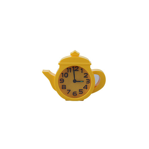 Tea Pot Table clock Yellow