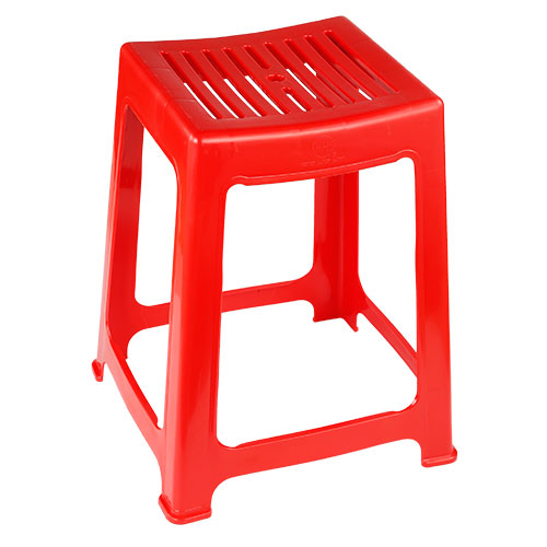 Timber Medium Stool High Red