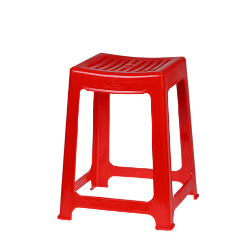Timber Stool High Red