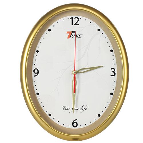 Tune Oval Stylish Wall Clock 1 Golden