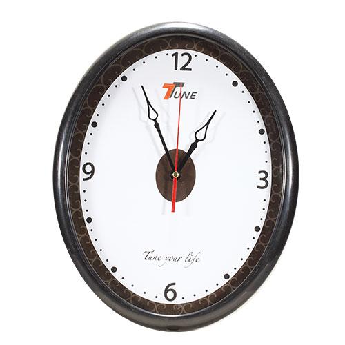 Tune Oval Wall Clock Black