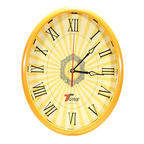 Tune Oval Wall Clock Orange