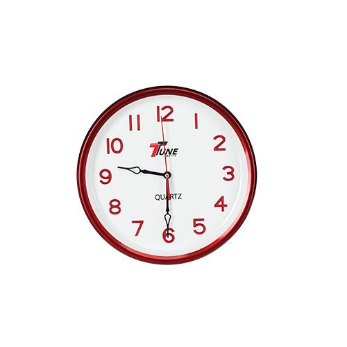 Tune Round Wall Clock Red