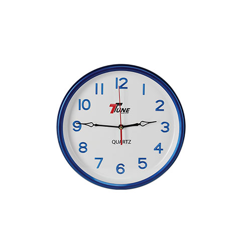 Tune Round Wall Clock With Digit Blue