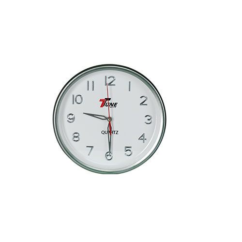 Tune Round Wall Clock With Digit Silver Red Hand