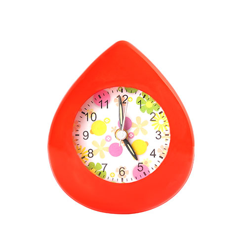 Water Drop Table Clock Red