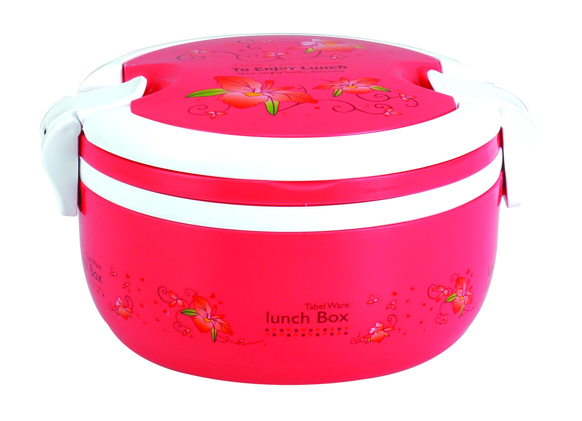 Round Single Tiffin Box – Pink
