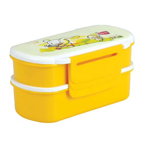Two Part Double Tiffin Box-Yellow